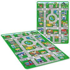 JUMBO 120 cm x 90 cm KIDS PLAY MAT città auto giocattolo città Playmat Schiuma EVA pulire con un panno
