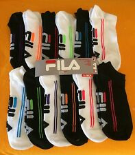 FILA SHOCK DRY WOMEN'S ATHLETIC SOCKS  (6 PAIRS) 1 LOT - USA SELLER