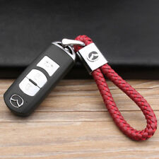 Car Logo Key Chain Fobs Leathe Weave Straps Keyring For Mazda 6 3 2  CX-5 MX-5