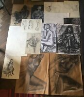Vintage Drawings Chalk Charcoal And Painting Of Nudes Sketches Artist Pictures