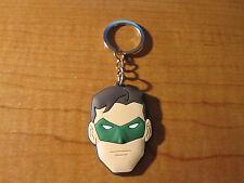 GREEN LANTERN Automobile Keychain Key Chain PVC Rubber FOB Metal Ring DC Comics