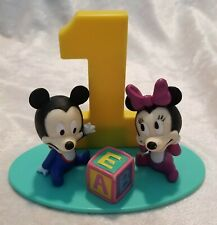 Vintage Mickey Minnie Mouse Birthday Cake Topper Decor 1 Year DecoPac