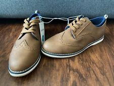 Boys Cat & Jack Carlton Brown Wingtip Loafers Shoes Size 6