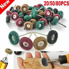 20-80Pc Abrasive Wheel Buffing Polishing Grinding Wheels Dremel Rotary Tool 25mm
