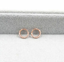 30pcs CZ Nose Ring Piercing Hoop Earring Helix Cartilage Tragus Daith Rose Gold