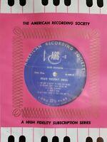 BILLIE HOLIDAY SINGS ARS G-409 1956 NM VINYL Insert American Recording Service