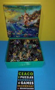 Ceaco Thomas Kinkade Disney Ariel Little Mermaid 750 Puzzle w/ Sisters and King