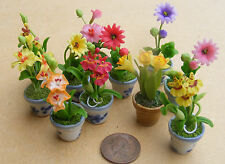 1:12 Scale Mixed Flowers In Ceramic Pot Tumdee Dolls House Garden Accessory ML10