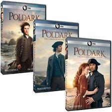 Poldark: The Complete Series Seasons 1-3 (DVD, 9-Discs) 1 2 3  Two Three New!