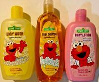 Lot Of 3 Sesame Street Elmo Baby Wash, Lotion, & Shampoo Soap - 10 Fl.OZ.