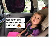 2 Instant Cling Sunshades Car Window Shade Baby Kids Sun Uv Side Eyes Protect
