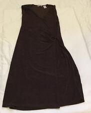 Women's Laura Ashley Stretchy Sexy Fit Dress, Brown, Sz M