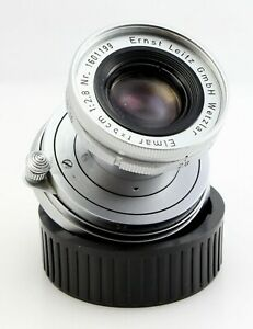 Leitz Elmar 50mm f/2.8 (5cm 1:2.8) Lens with Cap - Leica M Mount Leitz Wetzlar