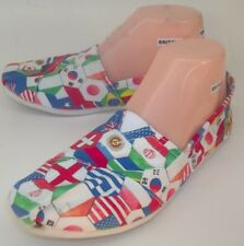 Toms Womens Shoes Flats US 7.5 Multi-color Fabric Slip-On World Flags