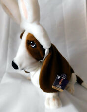 """Applause Hush Puppies Basset Hound Wearing Easter Bunny Ears NWT 14"""""""
