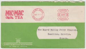 Saint John, N.B. 1934 Mic Mac Tea Company advertising meter cover