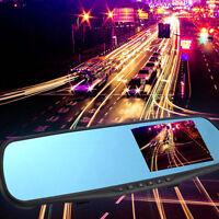 "4.3"" Full HD 1080P Auto DVR Dash Cam Rückspiegel GPS Spiege Kamera Recorder DE"