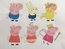 1 Set Peppa Pig helle ,dunkle Stoffe Transferfolie Applikation Puppenkleidung