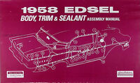1958 Edsel Body and Interior Assembly Manual 58 Trim and Sealant
