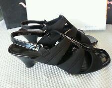 """Karen Scott New """"Fable"""" 9.5 M Black stretch open toe slingbacks Sandals 2"""""""