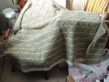 Beautiful Hand Crochet Afghan Blanket Throw EarthTones