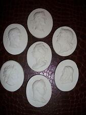 7 Lady Gent Portrait Grand Tours Cameos Intaglio Seals Gems Medallions plaster