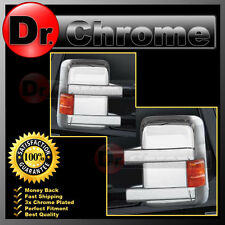 Triple Chrome Full Mirror Cover W/Turn Light Signal for 08-16 Ford F250/350/450