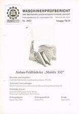 "Eberhardt Anbau- Feldhäcksler ""Maisfix"", orig. DLG- Bericht 1970"