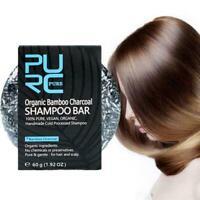Gray White Hair Color Dye Treatment Bamboo Charcoal Soap Detox Bar Clean Z6J0