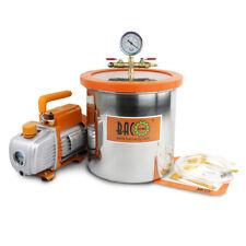 BACOENG 5 Gallone Vakuumkammer mit 3cfm einstufige Vakuumpumpe Unterdruckpumpe