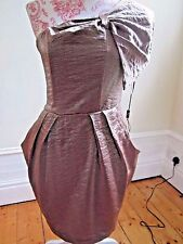 BNWT AX PARIS CORSET strapless MINI dress brown bronze Size 10 £55 SHIMMER