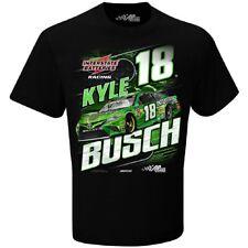 Mens Kyle Busch #18 Interstate Batteries Nascar Camber T-Shirt, Black