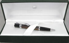Monteverde Jewelria Mini Brown Striated & Chrome Ballpoint Pen - New - 60% Off