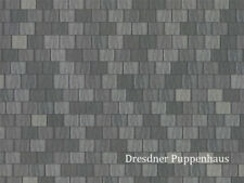 Dachziegel Tapete grau, Puppenhaus Puppenstube 1:12