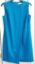 Autentico Calvin Klein CK Aqua Blue Wrap Shift Dress UK 8 - 10, Ufficio/Festa