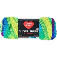 Red Heart Super Saver Yarn, Parrot Stripe - Yarn