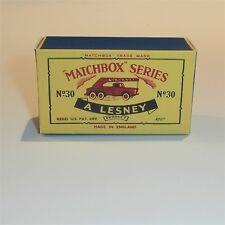 Matchbox Lesney 30 a German Crane Truck empty Repro C style Box