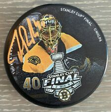 Tuukka Rask Boston Bruins Signed Autographed 2019 Stanley Cup Final Photo Puck
