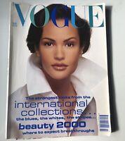 British VOGUE Magazine 1992 Claudia Mason, David Bailey, Christy Turlington