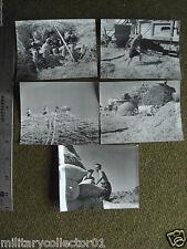 Original WWII 1944 Grossetto Italy Wheat Harvest Threshing Dragging Chaff 5Photo