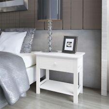 vidaXL Bedside Cabinet Lamp Table Nightstand Drawer Chest White/Black Modern