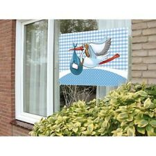 Flag New Arrival Its a Boy Window Decoration with Stork Design 60x90cm