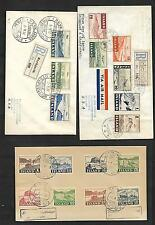 ICELAND Sc C 21-29 and SET 1950  ON 3 FDC TO USA VF