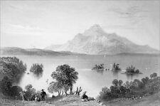 CANADA (QUÉBEC) - LA MONTAGNE d'ORFORD - Gravure du 19e siècle