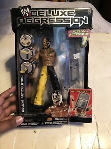 WWE Jakks Deluxe Aggression 20 REY MYSTERIO Action Figure w/ Face Print Chair