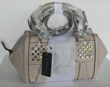 Guess Handbag Ladies Rowena Satchel Crossbody Sling Bag SAND Logo Sac $108