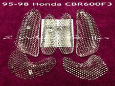 1995-1998 HONDA CBR600F3 CUSTOM CHROME FAIRING GRILLS SCREENS MESH MADE IN USA