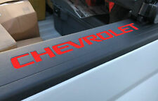 DKM | 2 x RED BED RAIL CAP COVER LETTERS FOR SILVERADO 2014-2018 NOT DECALS