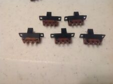 Lot Of 5 Slide Switch 3 Pin DPDT