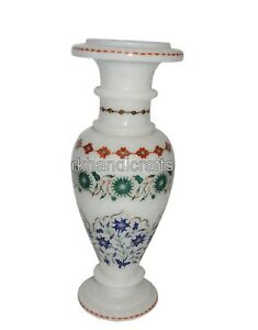 Elegant Look Marble Flower Vase Unique Birthday Gift Decorative Planter 10 Inch
